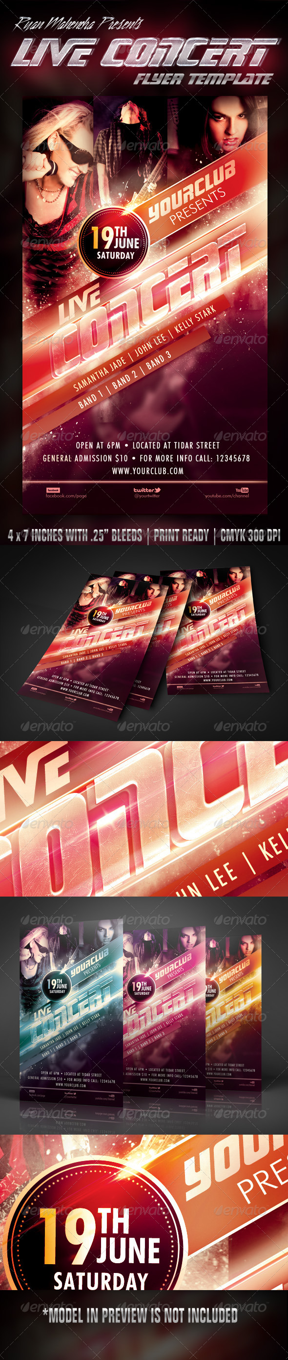 GraphicRiver Live Concert Flyer Template 5455621