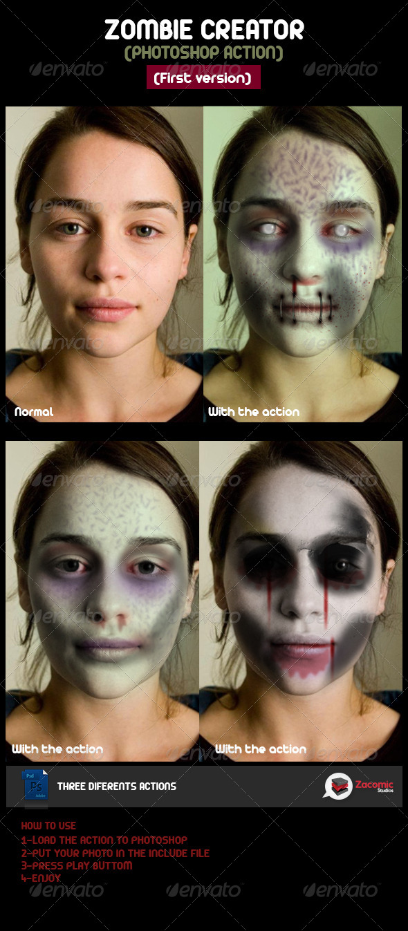 Zombie Creator - Photo Effects Actions