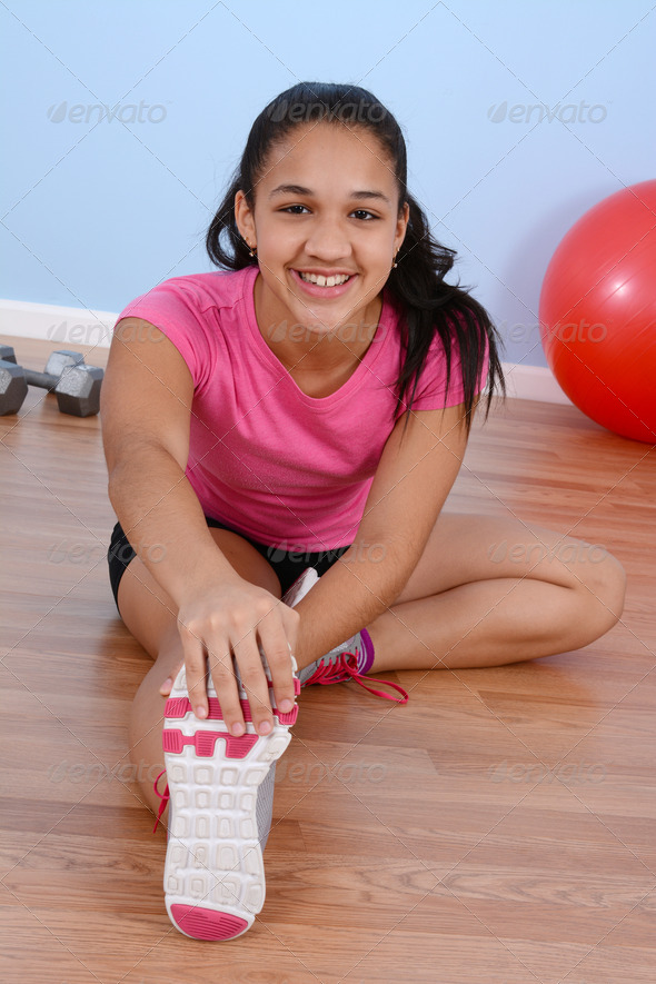 Teenager Workout - Stock Photo - Images