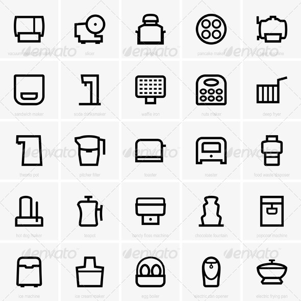 GraphicRiver Kitchen Icons 5456504 Created: 28