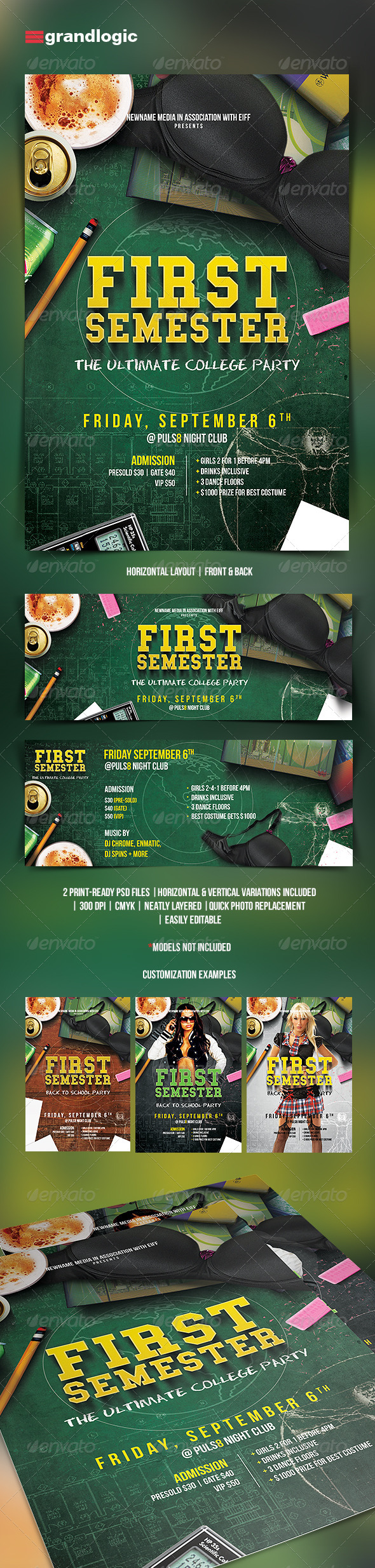 GraphicRiver College Party Flyer 5445822
