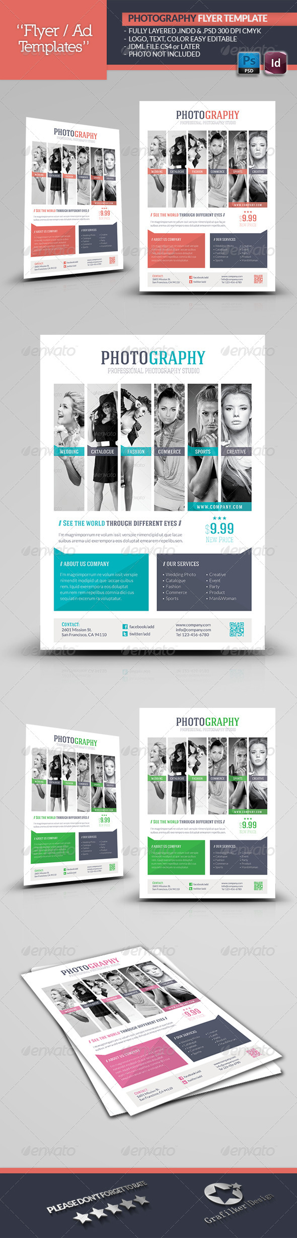 GraphicRiver Photography Flyer Template 5456631