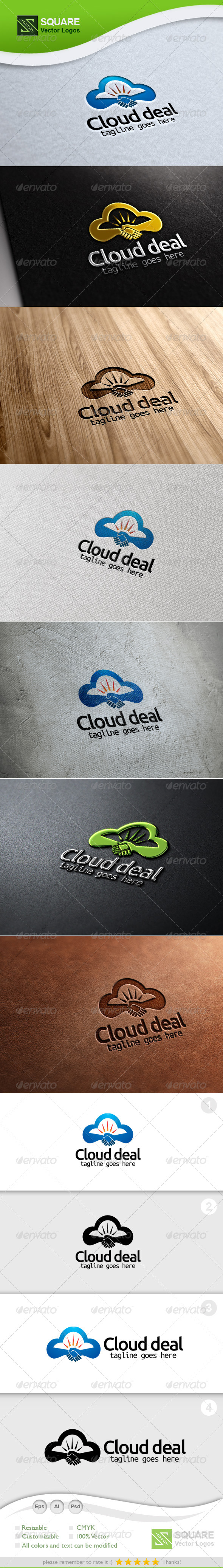 Cloud, Deal Vector Logo Template - Symbols Logo Templates