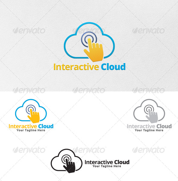 GraphicRiver Interactive Cloud Logo Template 5456816