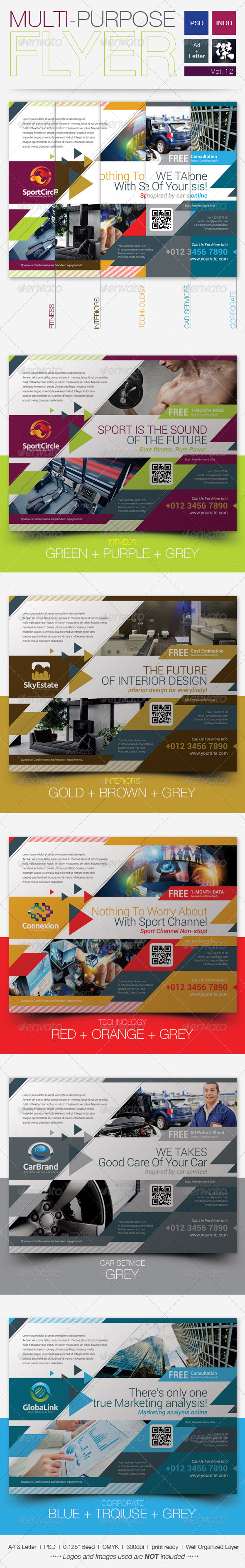 GraphicRiver Multipurpose Business Flyer Vol.12 5456887
