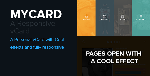 mycard responsive resume cv html5 template virtual business card - Cv Web Template Responsive