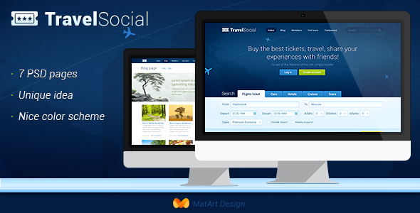 ThemeForest Travel Social 5457129