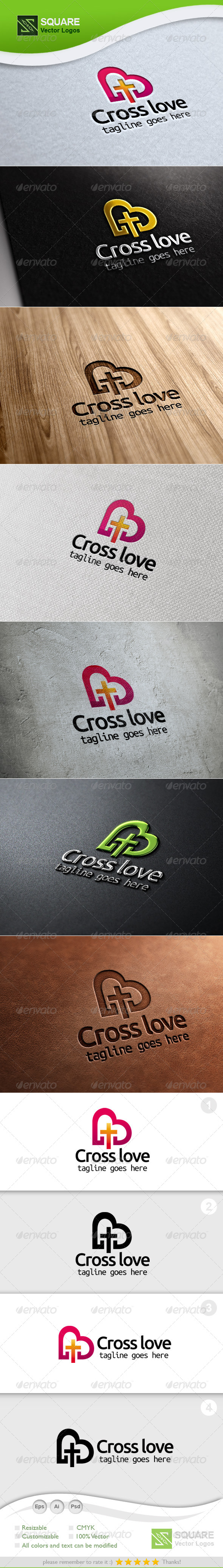Cross, Love Vector Logo Template - Symbols Logo Templates