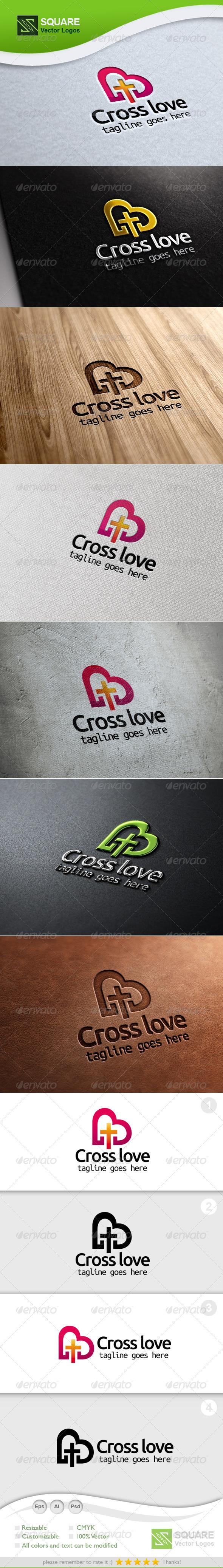 GraphicRiver Cross Love Vector Logo Template 5457296