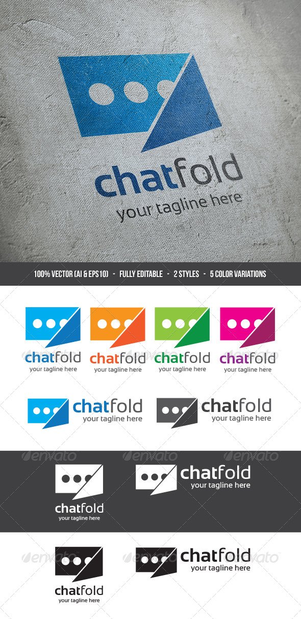 GraphicRiver Chat Fold Logo 5457470