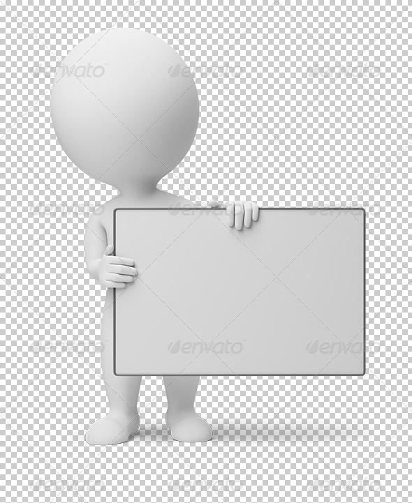 GraphicRiver 3D small people empty board 5457639