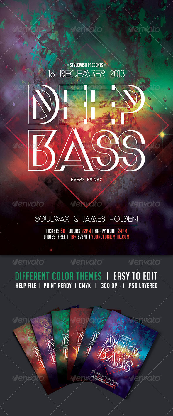 GraphicRiver Deep Bass Flyer 5457888