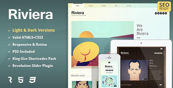 ThemeForest Riviera Premium Portfolio HTML5 Template 5458311