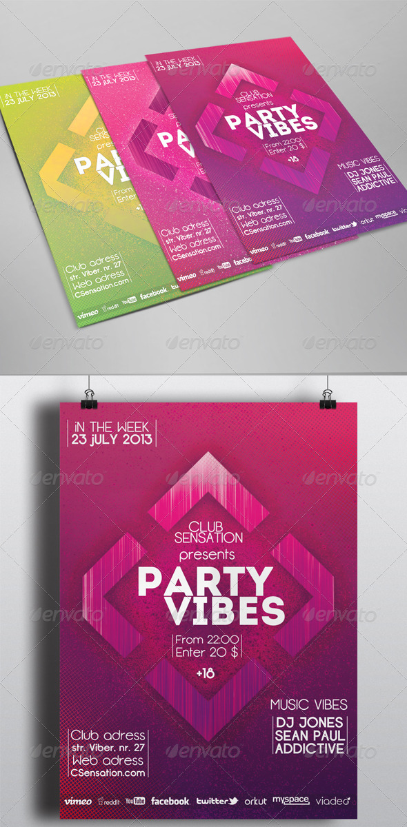 GraphicRiver Flyers Vibes 5458335