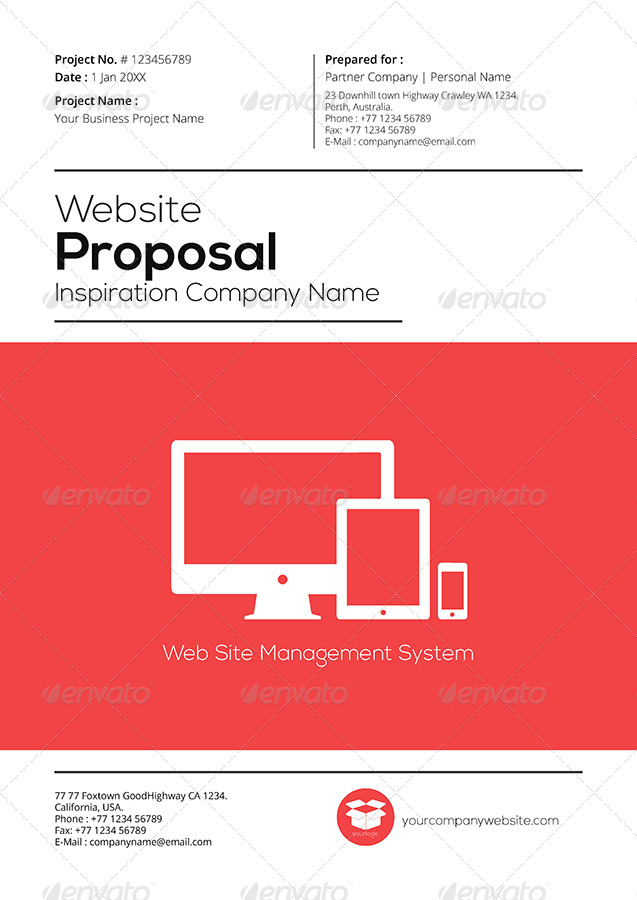 Gstudio web proposal template v2 by terusawa graphicriver for T shirt printing business proposal letter