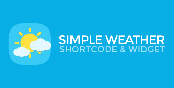 Simple Weather WordPress Shortcode & Widget - CodeCanyon Item for Sale