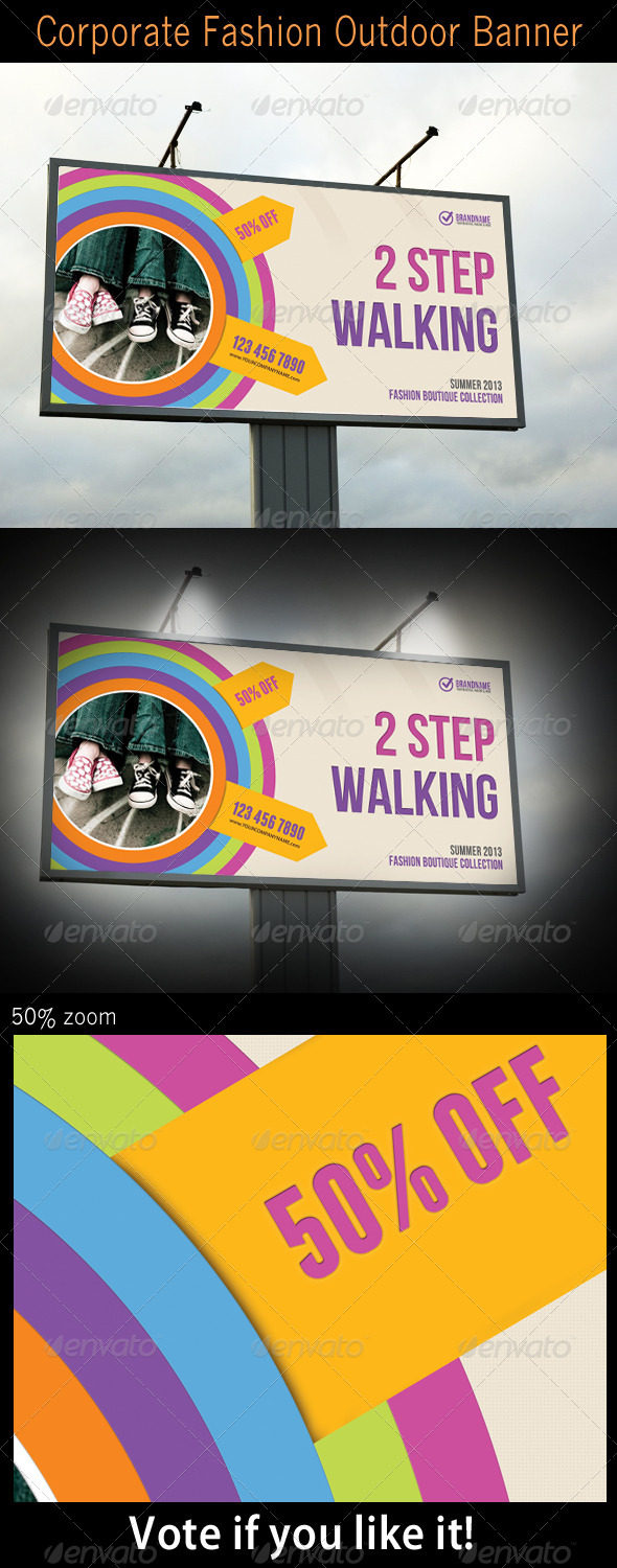 GraphicRiver Corporate Fashion Outdoor Banner 5458368