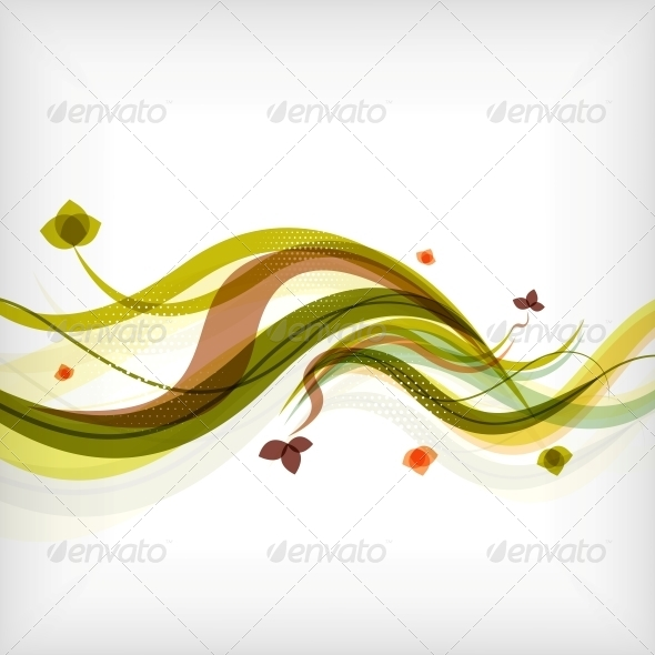GraphicRiver Autumn Seasonal Wave Modern Background 5458413