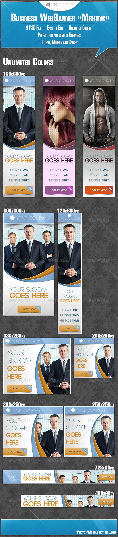 GraphicRiver Multipurpose Business WebBanner Mrktng 5458436