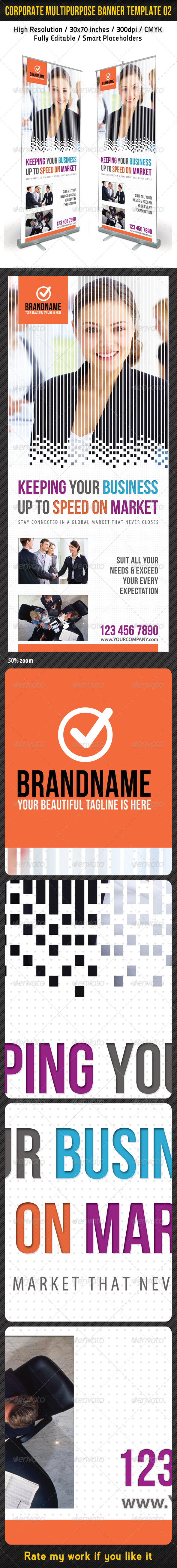 Corporate Multipurpose Banner Template 02 - Signage Print Templates