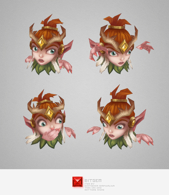Low Poly Micro Druid Lara - 3DOcean Item for Sale