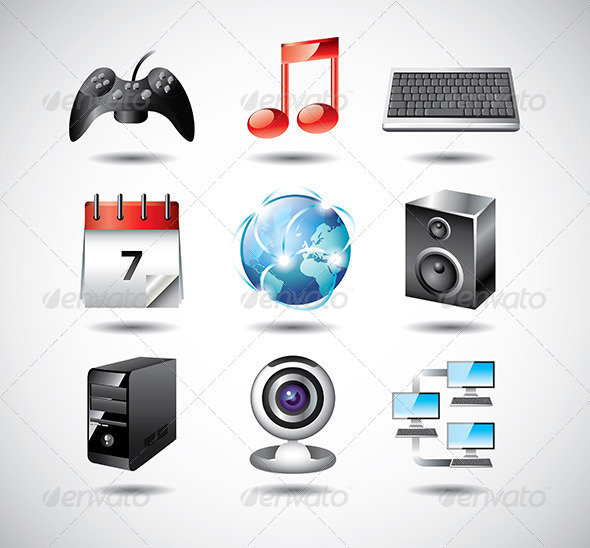 GraphicRiver Computer System Icons Vector Set 5458593