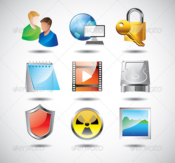 GraphicRiver Computer System Icons Vector Set 5458594