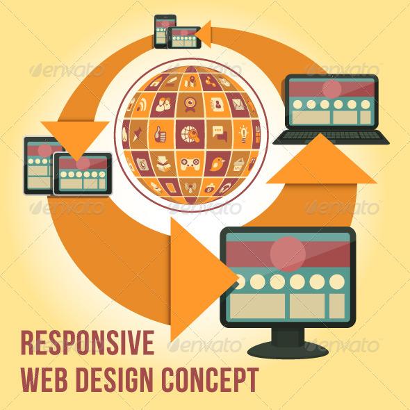 GraphicRiver Responsive Web Design Concept 5458775
