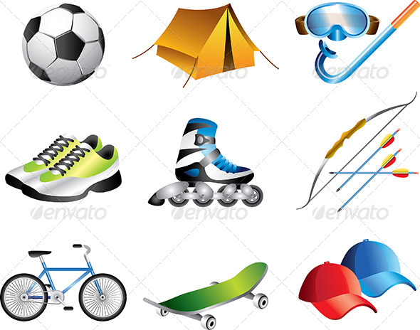 GraphicRiver Sport Icons Vector Set 5458781