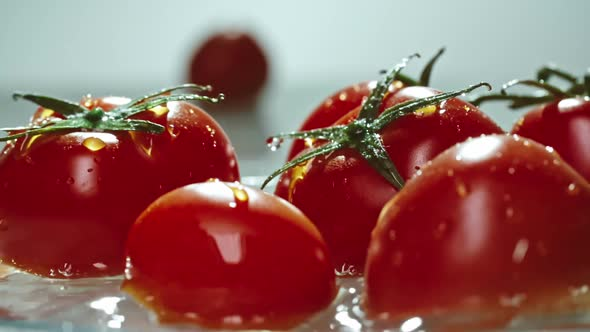Download Cleaning Ripe Red  Tomatoes with Pure Water nulled download