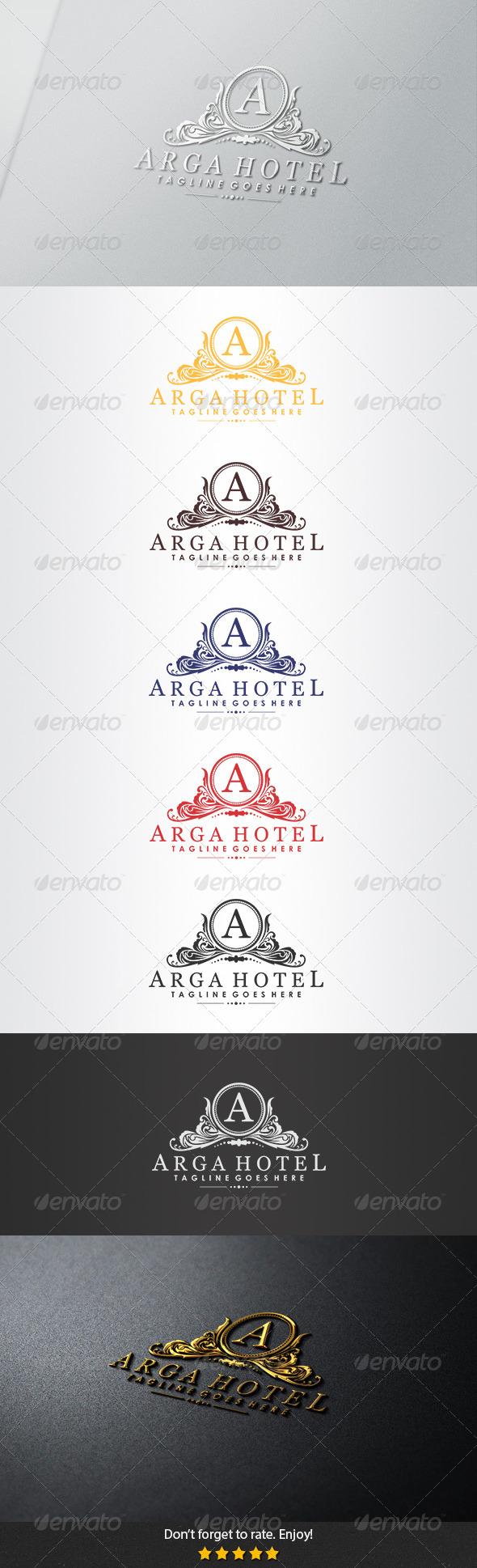 Arga Hotel Logo - Crests Logo Templates