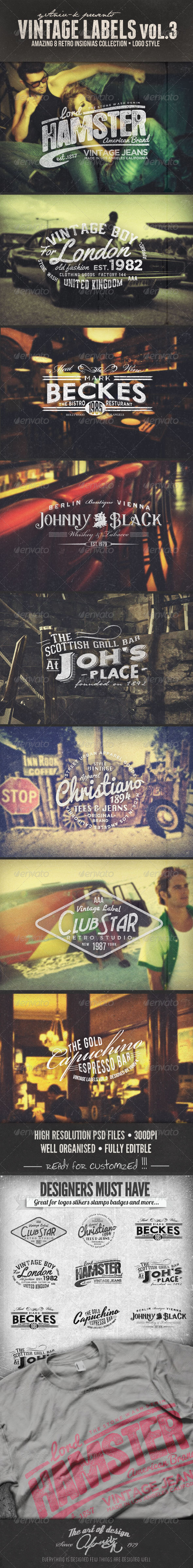 GraphicRiver Vintage Labels Vol.3 5450604