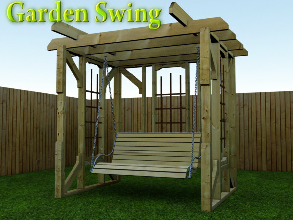 Garden Swing - 3DOcean Item for Sale