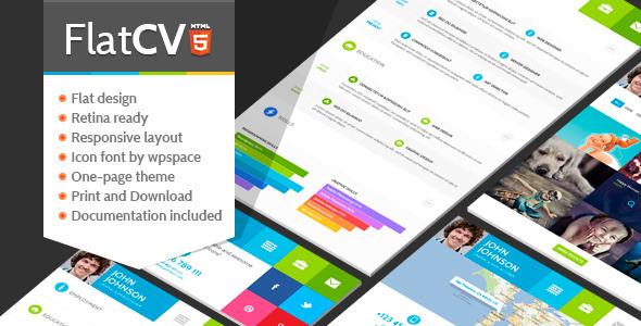 ThemeForest FlatCV Resume  Portfolio  HTML5 5458924