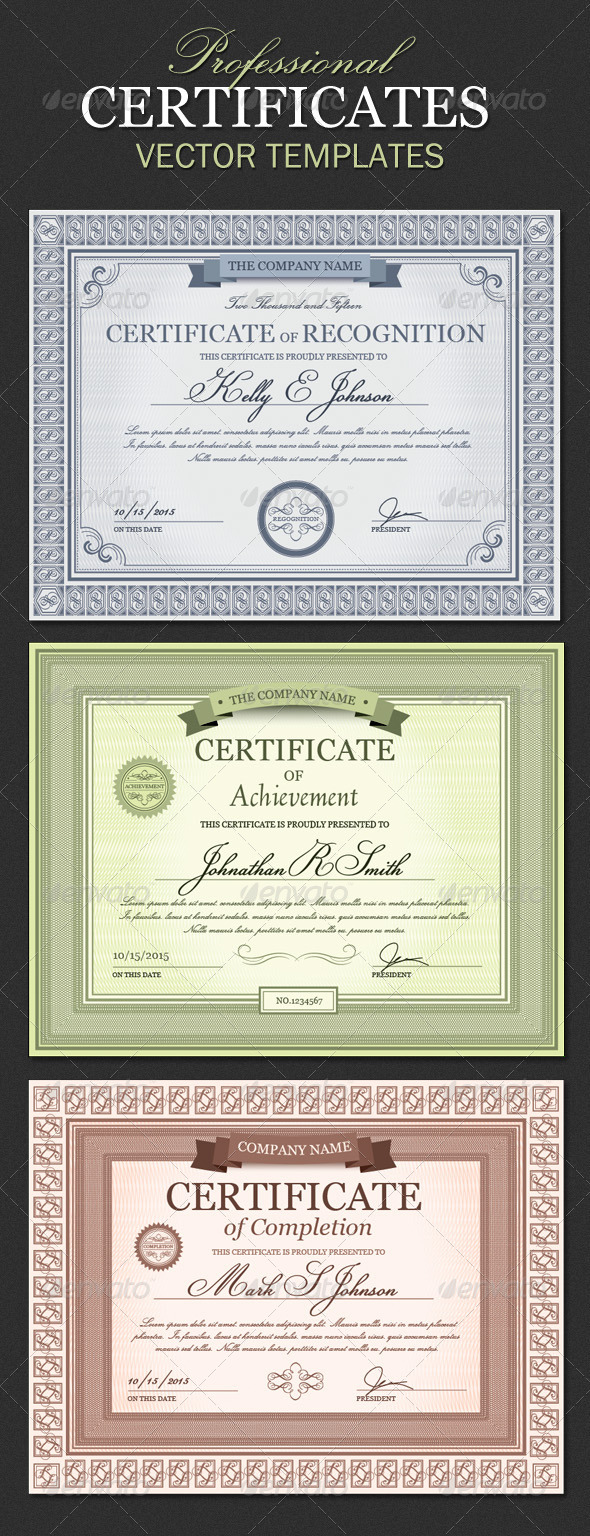 GraphicRiver Certificate Templates 5458925