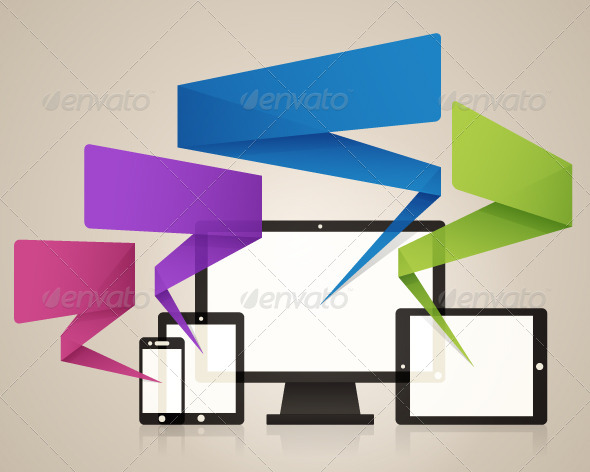 GraphicRiver Technology Screens Background Vector 5448358