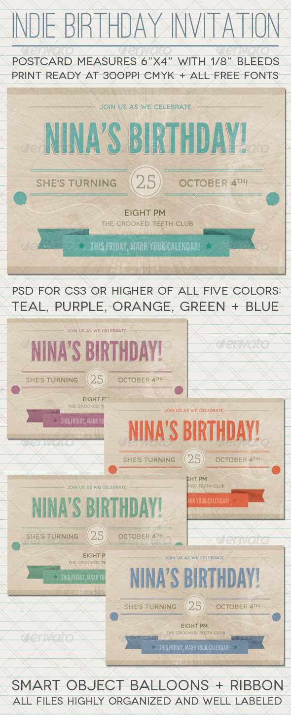 Indie Invitation - Invitations Cards & Invites