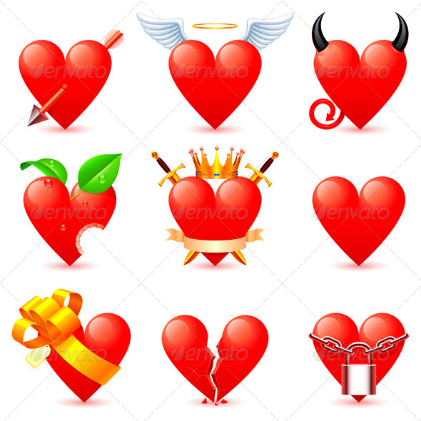 GraphicRiver Heart Icons 5459227