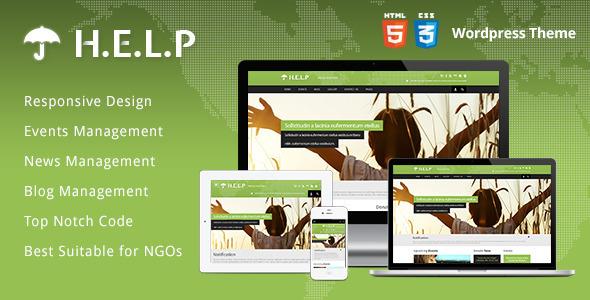 ThemeForest HELP NGO Wordpress Theme 5459291