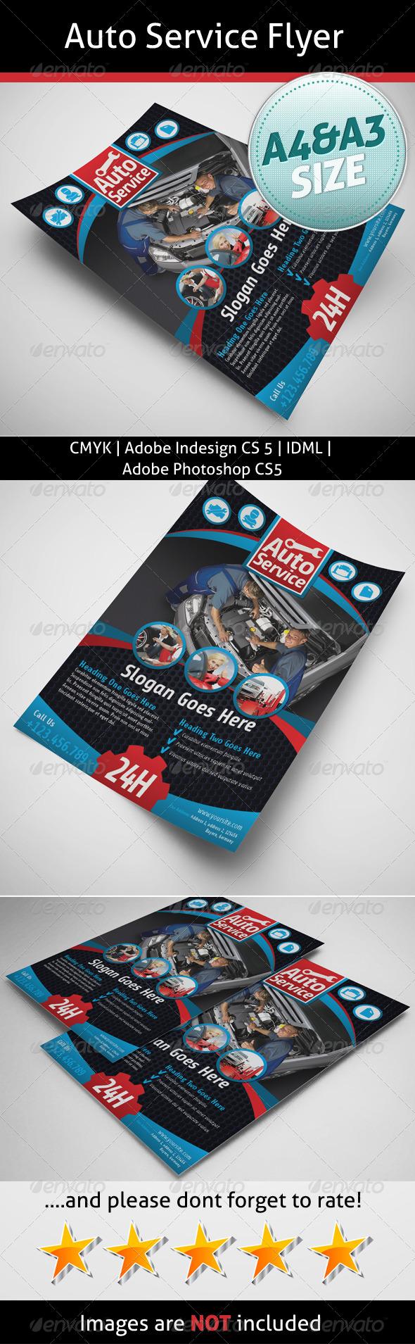 GraphicRiver Auto Service Flyer 5459461