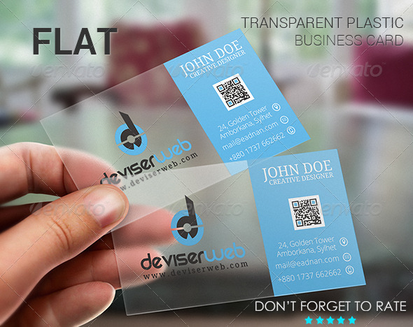 GraphicRiver Flat Transparent Plastic Business Card 5434985