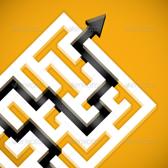 GraphicRiver Yellow Maze 5460049