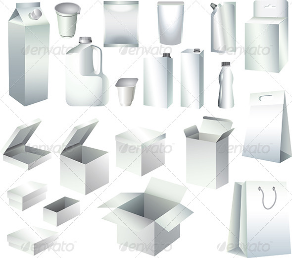 GraphicRiver Packaging Paper Boxes and Bottles Templates 5460098