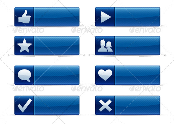GraphicRiver Social Networking Buttons 5460131