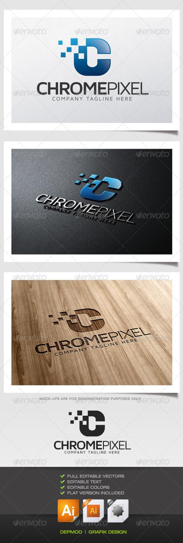 GraphicRiver Chrome Pixel Logo 5460357