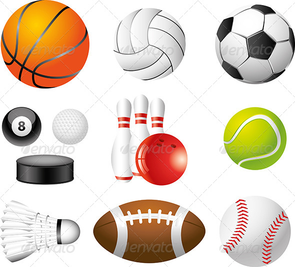 GraphicRiver Sport Balls Photo-Realistic Vector Set 5460435