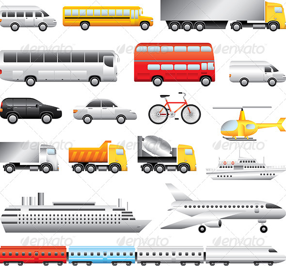 GraphicRiver Transport Big Detailed Vector Set 5460483