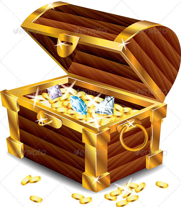 GraphicRiver Opened Treasure Chest with Treasures 5460485
