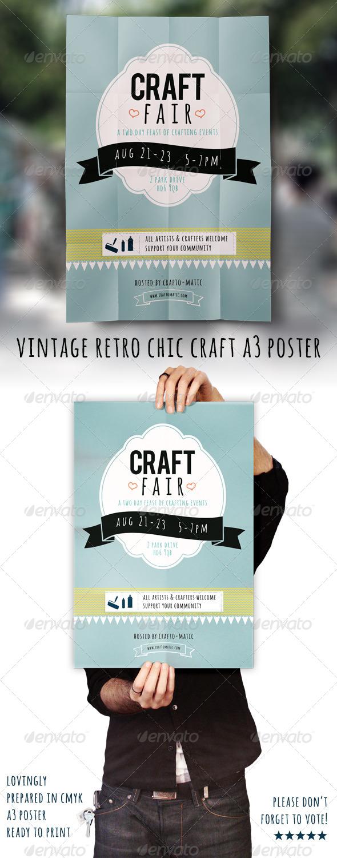 GraphicRiver Vintage Retro Craft Fair A3 Poster 5460823
