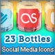 Bottle Social Media Icons - GraphicRiver Item for Sale